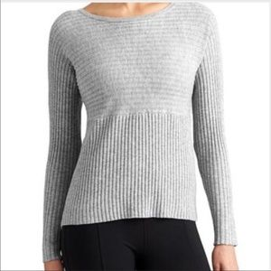 Athleta - TAN Ribbed 100% Merino Wool Sweater - S